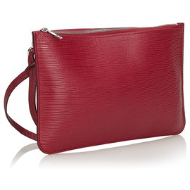 Louis Vuitton-Epi Pouch-Rouge