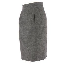 Zapa-Skirt suit-Grey