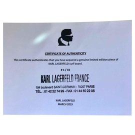 Karl Lagerfeld-Surf Board-Blanc