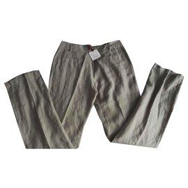 Autre Marque-Neuf Pantalon Lin naturel 40fr Kanopé Val 79€-Beige