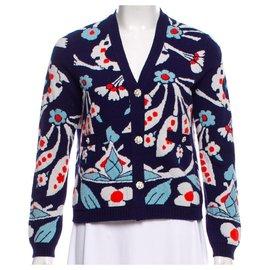 Chanel-Tricots-Multicolore,Bleu Marine