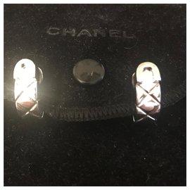 Chanel-Boucles d'oreilles Chanel-Argenté