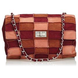Chanel-Reissue Patchwork Suede Flap Bag-Marron,Multicolore,Beige