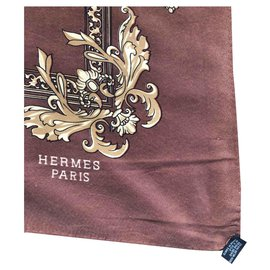 Hermès-Scarf-Brown