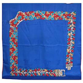 Cartier-Foulards de soie-Bleu