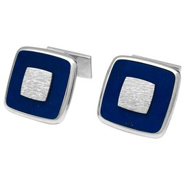 Piaget-Piaget cufflinks, white gold and lapis lazuli.-Other