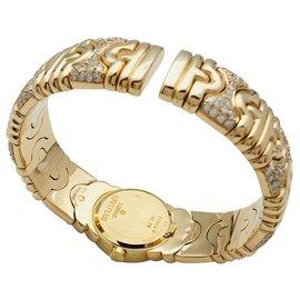 "Bulgari-Montre Bulgari modèle ""Parentesi"" en or jaune, diamants.-Autre"