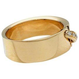 """Chaumet-Bague Chaumet """"Lien"""", or jaune et diamants.-Autre"""