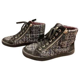 ce2bc2291434 Chanel-Chanel Tweed lace up sneakers EU36-Other ...