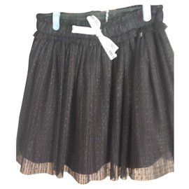 3pommes-Black skirt-Black