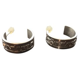 Yves Saint Laurent-Yves Saint Laurent earrings-Silvery