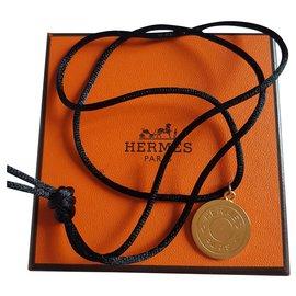 Hermès-CLOU DE SELLE-Noir,Doré