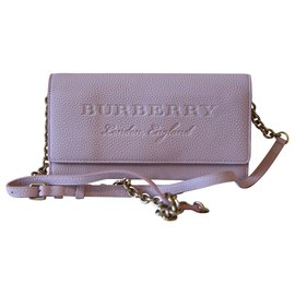Burberry-Embossed logo crossbody bag-Pink