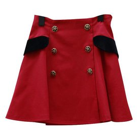 Moschino Cheap And Chic-Jupes-Noir,Rouge