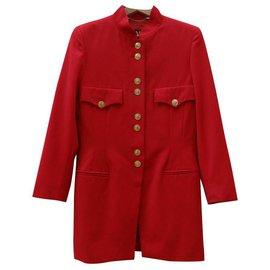 Escada-Manteaux, Vêtements d'extérieur-Rouge