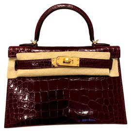 Hermès-Kelly Mini II-Bordeaux
