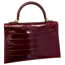 Hermès-Kelly Mini II-Dark red