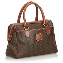 Céline-Macadam Handbag-Brown