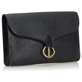 8d5e7665a9 ... Dior-Honeycomb Coated Canvas Clutch Bag-Black