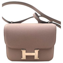 Hermès-Sac Hermes Constance 18 Gris Asphalte-Gris