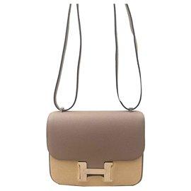 Hermès-Hermes bag Constance 18 Asphalt Gray-Grey