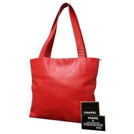 Chanel-Sac à main Chanel-Rouge