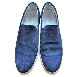 Tod's-TOD'S MEN'S SUEDE LOAFERS-Blue