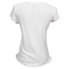 Maison Scotch-Maison Scotch T-shirt USA Drapeau Americain Taille S 1-Blanc