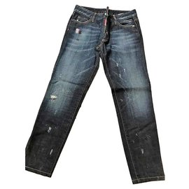 Jeans Slim It Conditions Dsquared2 Grands Bleu 44 c3LqARj54S