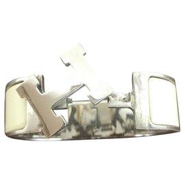 Hermès-Clic H-Blanc cassé