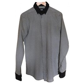 D&G-D&G Triangular pattern shirt-Black,White