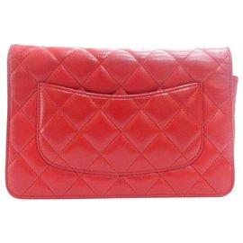 Chanel-Chanel Sac d'epaule-Rouge