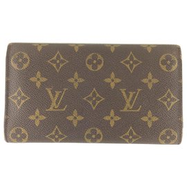 Louis Vuitton-Portefeuille à trois volets Louis Vuitton-Marron