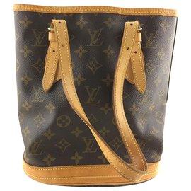 Louis Vuitton-Louis Vuitton Bucket PM-Marron