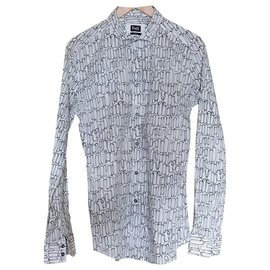 D&G-D&G shirt with rounded draws-White