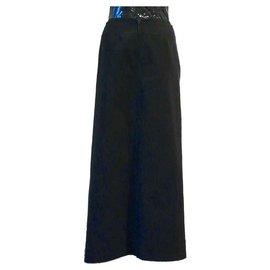Autre Marque-jupe longue croisée Rhum-Raisins By Victoire Vermeulen-Noir