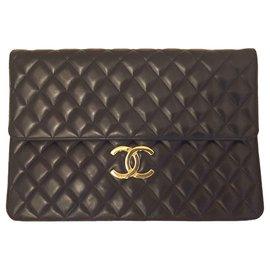 113158e698d Chanel-Grande pochette XL Chanel-Noir ...