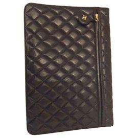 Chanel-Large XL Chanel clutch-Black