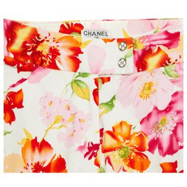 Chanel-FR40 CROP FLOWERY-Blanc,Multicolore