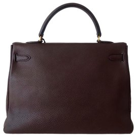 Hermès-SAC HERMES KELLY MARRON-Marron