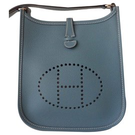 Hermès-SAC HERMES EVELYNE TPM-Bleu clair