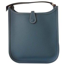 Hermès-BAG HERMES EVELYNE TPM-Light blue