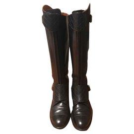 Chanel-Riding boot-Black