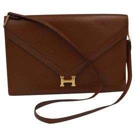 Hermès-Lydie Clutch-Brown