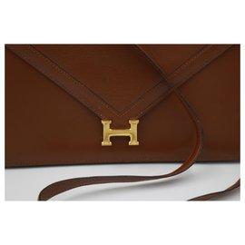 Hermès-Lydie Clutch-Marron