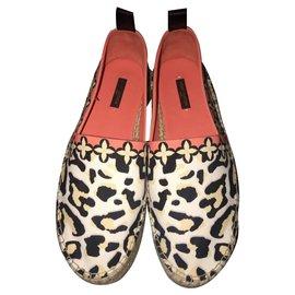 Louis Vuitton-Espadrilles Louis Vuitton-Imprimé léopard