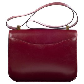 Hermès-Superb Hermes Constance burgundy box leather in very good condition!-Dark red