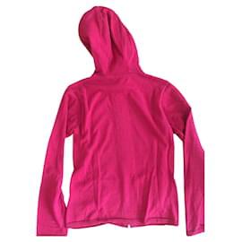 Burberry-Sweater à capuche Burberry-Rouge