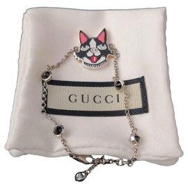 Gucci-Joli bracelet Gucci édition limité-Argenté