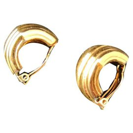 Nina Ricci-Belles boucles d'oreilles vintage Nina Ricci-Doré